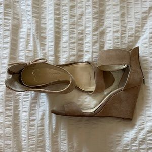 Jessica Simpson Faux Suede Wedges